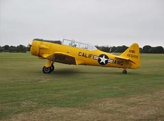 Harvard T-6G G-DDMV on display at Headcorn Aerodrome, Kent on 27.09.20