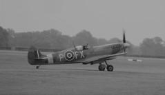 Mk IX Spitfire TD314 St George parks up at Headcorn Aerodrome on 27.09.20