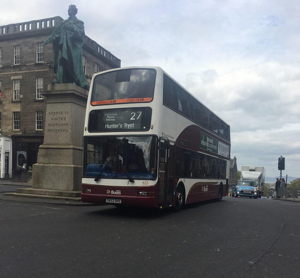 Lothian Buses Dennie Trident SK52OHS 655