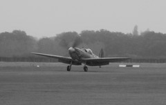Mk IXT Spitfire NH341 Elizabeth takes off at the Battle of Britain Airshow, Headcorn Aerodrome on 27.09.20