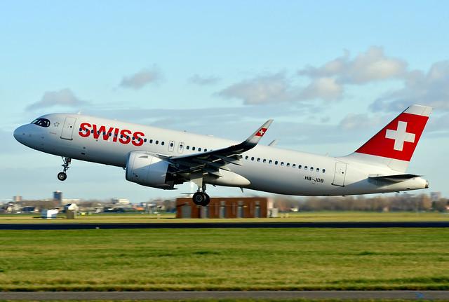 HB-JDB A320-271N cn 9379 Swiss International Airlines 210109 Schiphol 1001