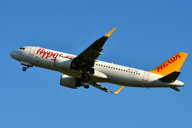 TC-NBR A320-251N cn 8136 Pegagus Airlines 210109 Schiphol 1002