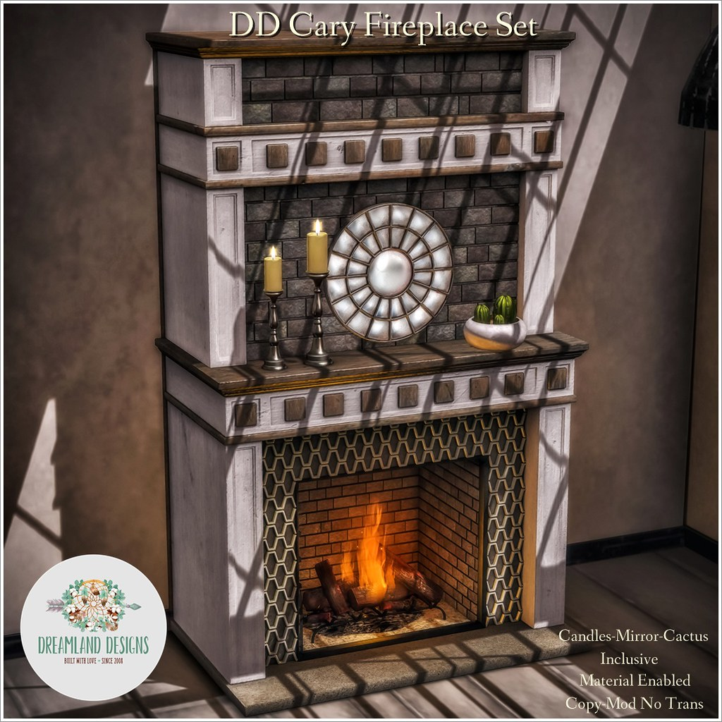 DD Cary Fireplace Set AD