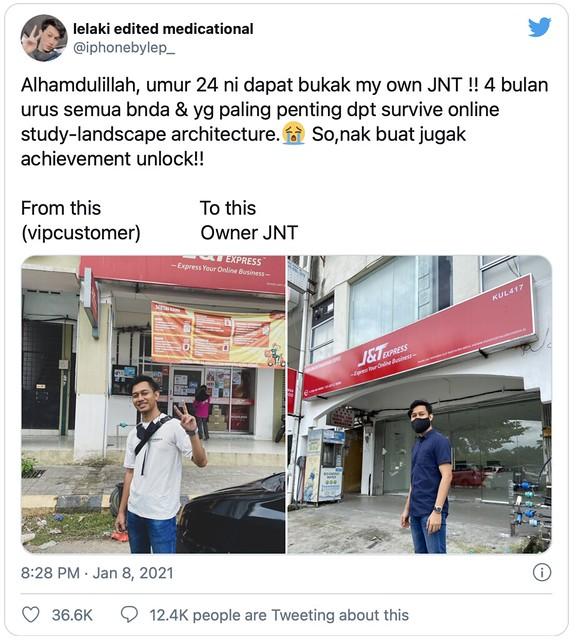 Pelajar Jual Barang2 Online Cari Modal Buka Francais J&T Sendiri di Usia 24 Tahun!