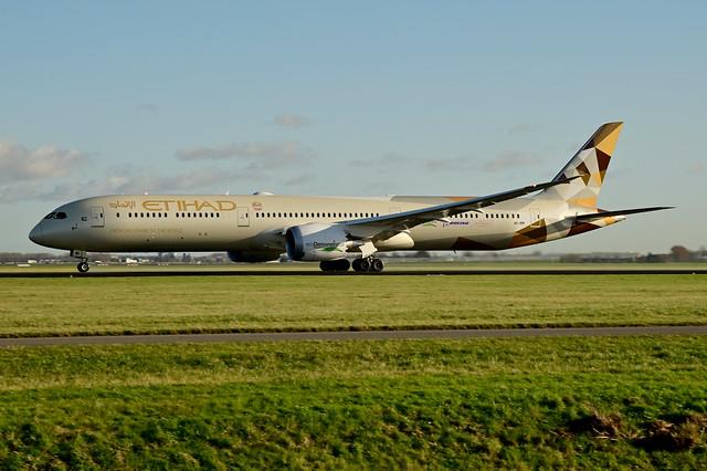 A6-BMI B787-10 cn 60768 Etihad Airways (Ecodemonstrator) 210109 Schiphol 1001