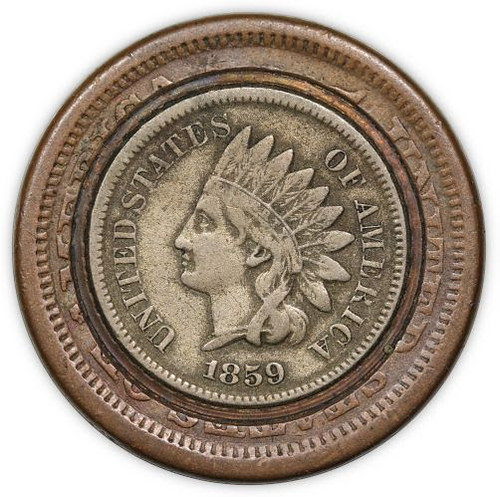 Large Cent Inlaid with an Indian Head Cent | by Numismatic Bibliomania Society