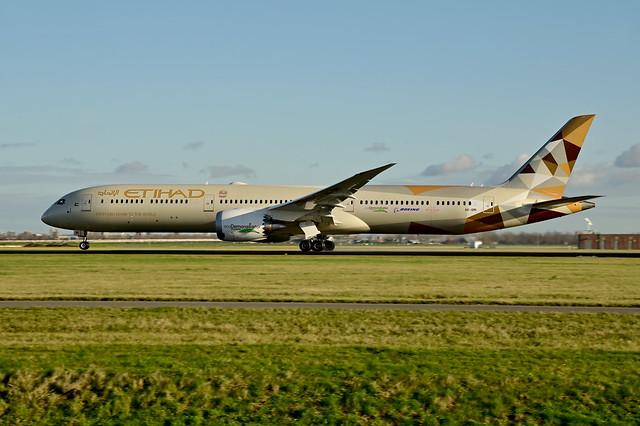 A6-BMI B787-10 cn 60768 Etihad Airways (Ecodemonstrator) 210109 Schiphol 1002