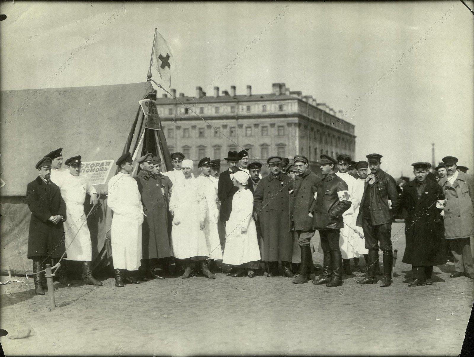 1918-1920. Медпункт на площади Жертв революции.
