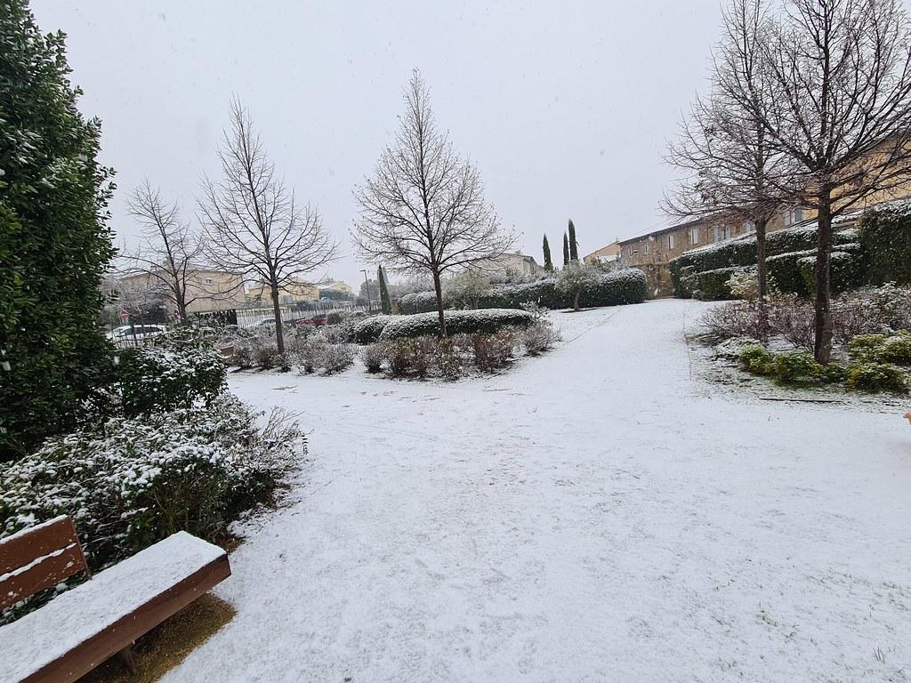 Trets neige CENTRE VILLE 10JANVIER 2021