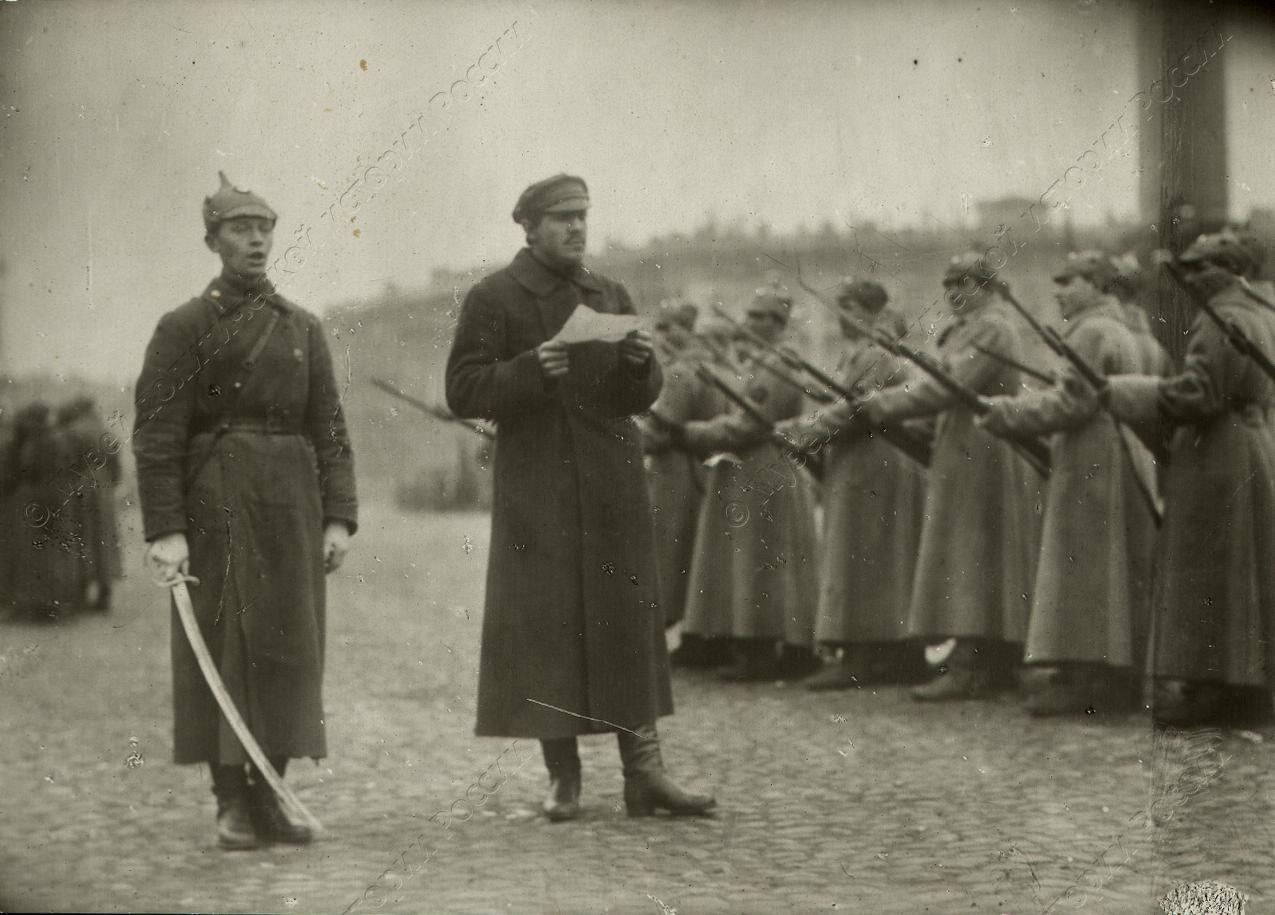 1918-1920. Принятие присяги курсантами военных заведений Петроградского гарнизона