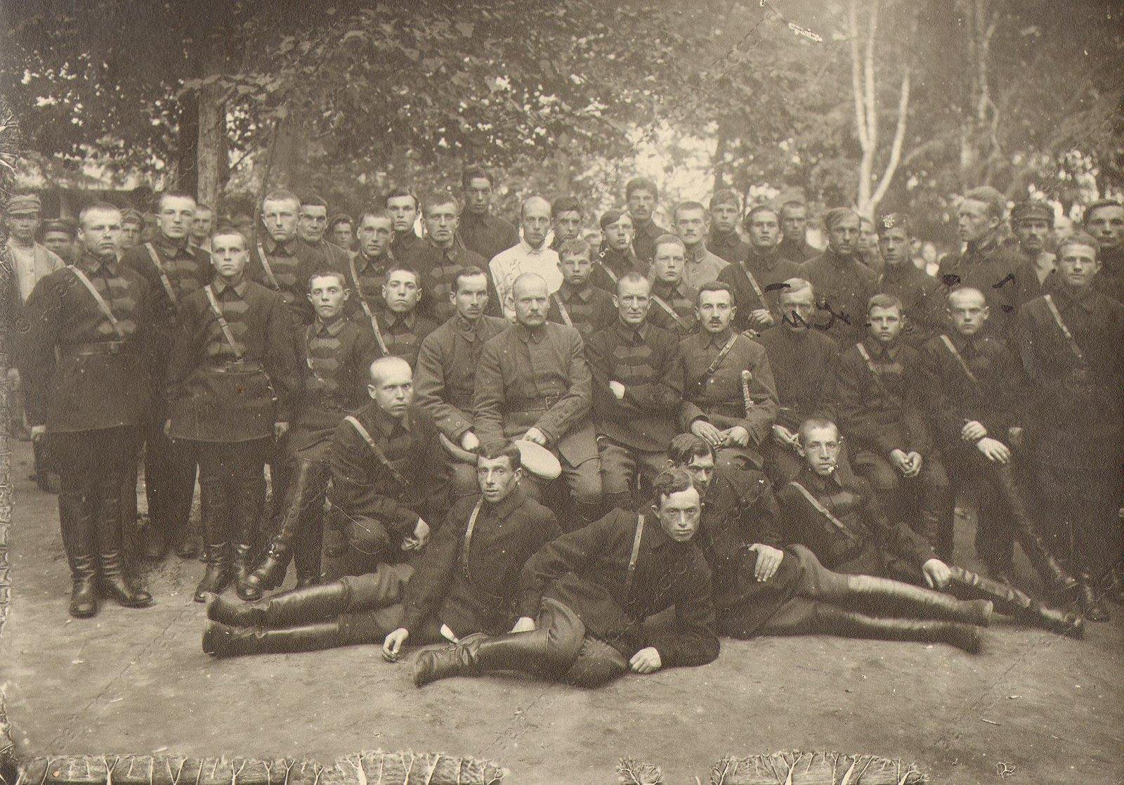 1918-1920. Группа бойцов и командиров Красной Армии