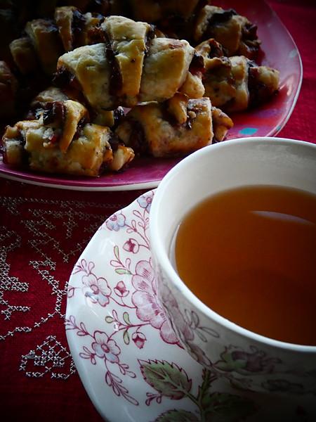 rugelach et thé fumé