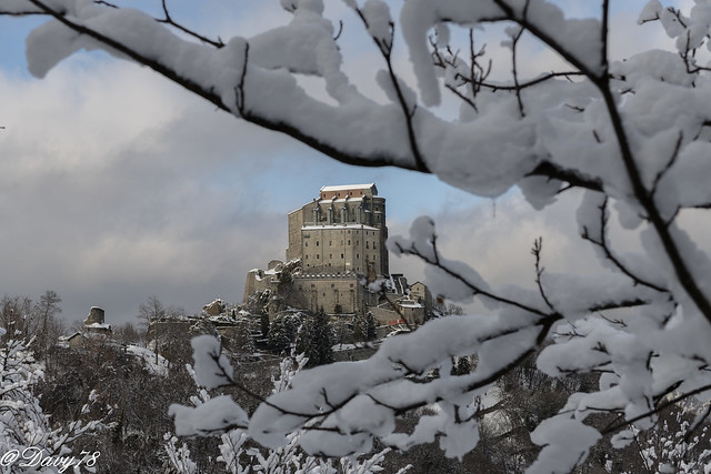 Sacra di San Michele sotto la neve