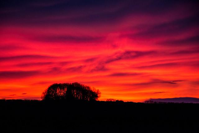 Sunset from Seaton Sluice