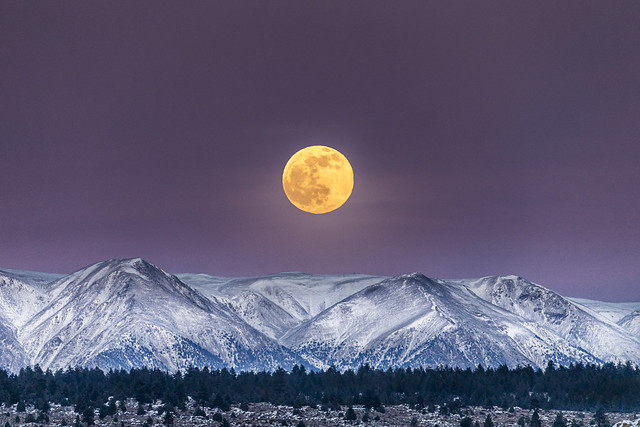 Full Moon over White Mountain Peak