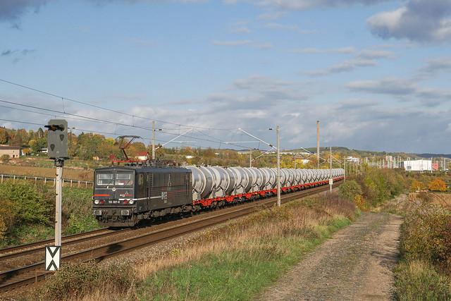 155 007 EBS Erfurter Bahnservice Gesellschaft mbH   Sangerhausen   Oktober 2020
