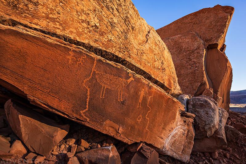 Morning Petroglyph Panel