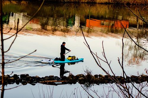 Water sports in winter
