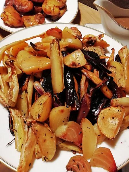 légumes anciens rôtis