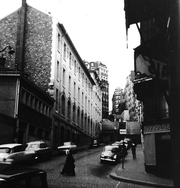 Cobbled street in Paris (1966)