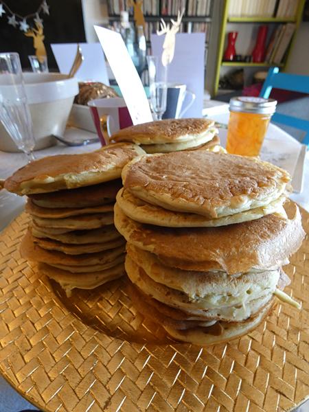 pancakes au safran
