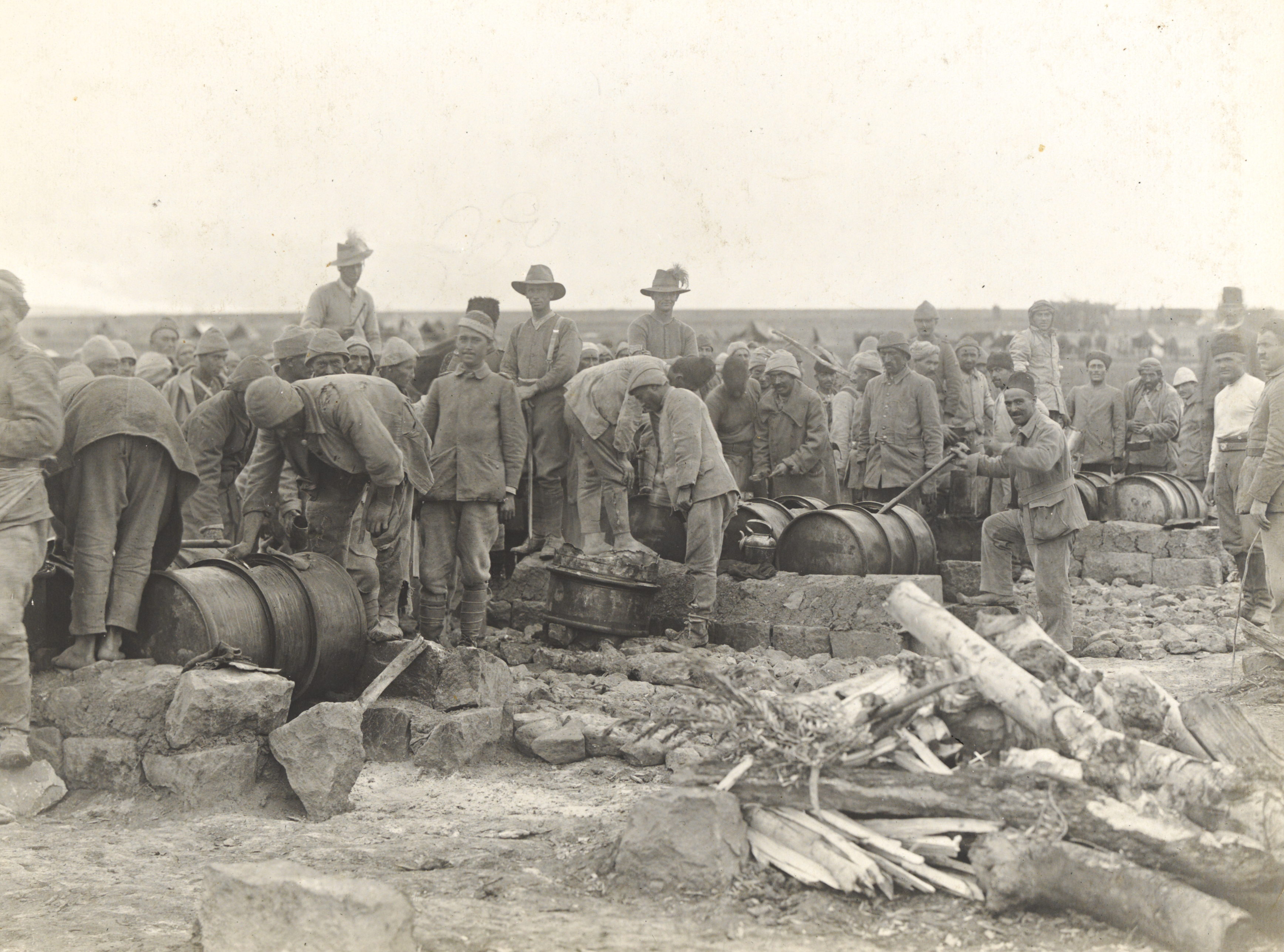 Feeding Turkish Prisoners of War, Australian Light Horse, attrib. Palestine, ca. 1916-1917, James Chauvel