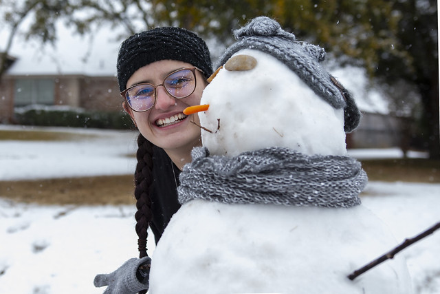 Gabi Making Snowman