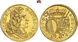 1708 Augsburg Gold Two Ducats | by Numismatic Bibliomania Society
