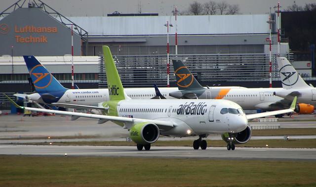 air Baltic, YL-CSC, MSN 55005,Airbus A220 CS300, 03.01.2021, HAM-EDDH, Hamburg