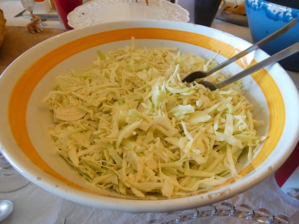 salade de chou blanc aux pommes