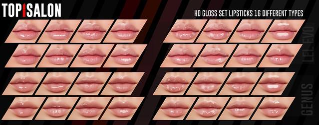 TOP1SALON - HD GLASS SET LIPSTICKS (Genus,Lel) @EQUAL10