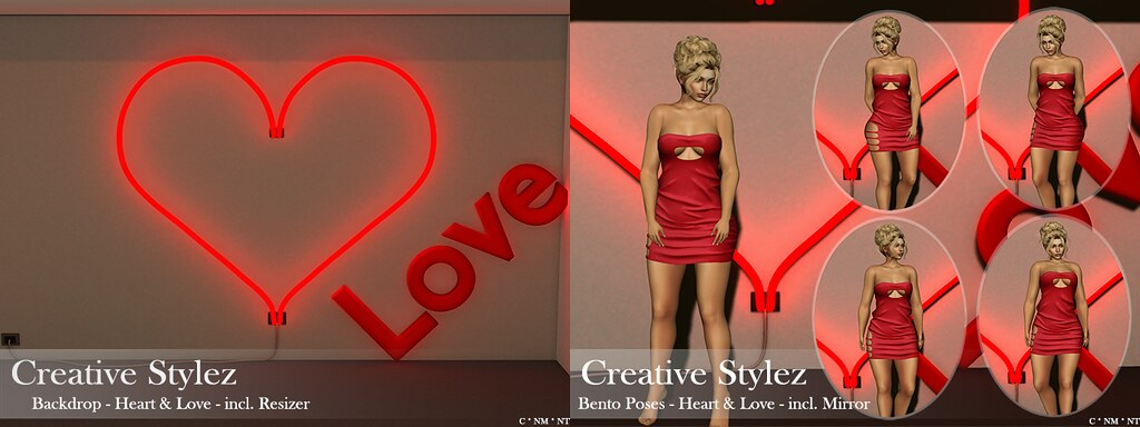 Creative Stylez – Backdrop & Poses – Heart & Love –