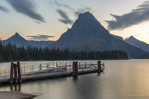 Twilight at Two Medicine Lake