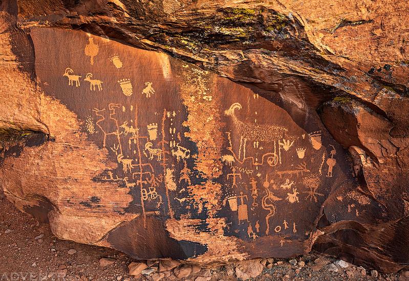 Boulder Petroglyph Panel