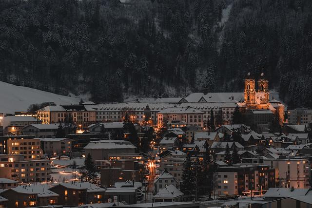 Einsiedeln at night