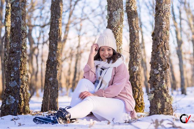 Sonrisas en la nieve.
