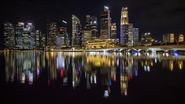 Singapore Marina Bay Night Reflections