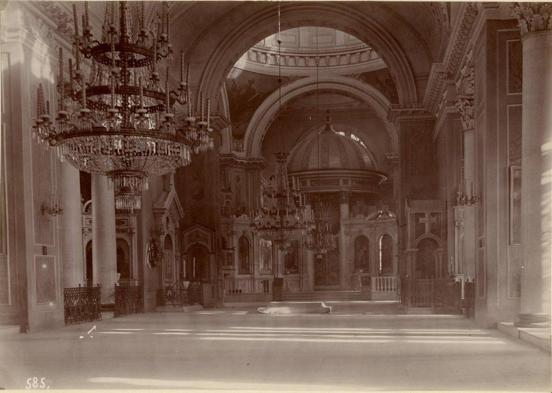 Интерьер Преображенского собора в Одессе. Машуков В.Д. 1899