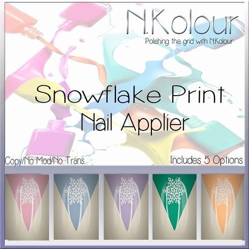 Snowflake Print Ad