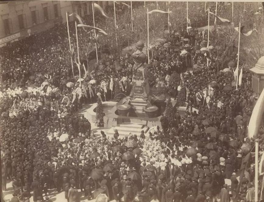 Открытие памятника А.С.Пушкину в Одессе. Неизвестный фотограф. 1889