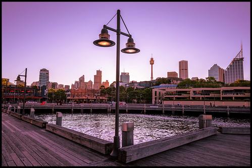 wharf pier sydney city cityskyline sydneyskyline sunset dusk thefingerwharf woolloomooloo fingerwharf