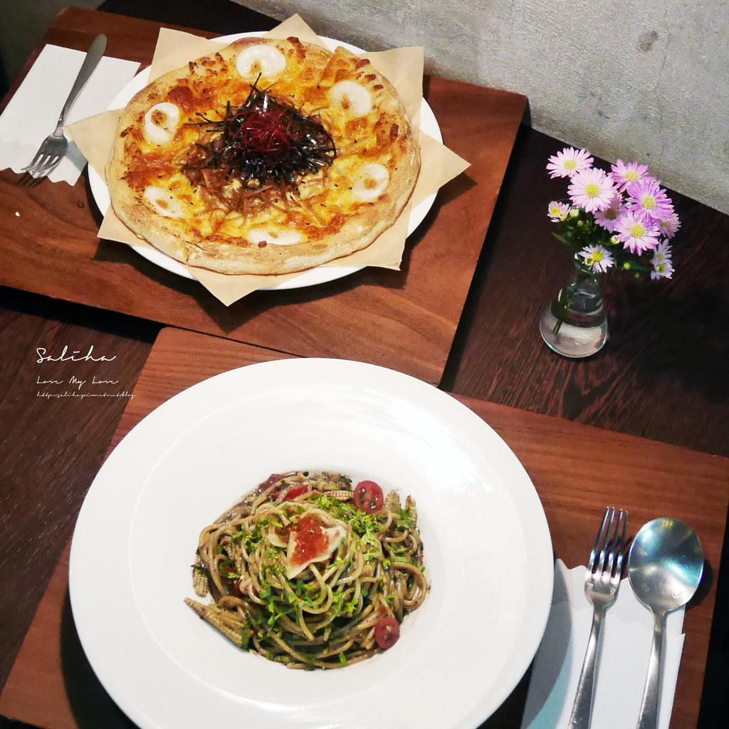淡水老街好吃餐廳推薦之間茶食器素食義大利麵披薩咖啡廳蔬食 (1)