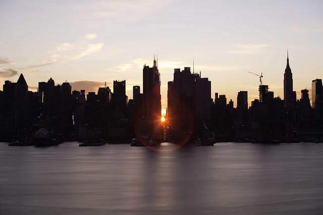 Reverse Manhattanhenge, January 2021