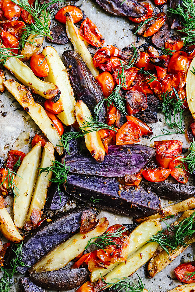 Spicy Roasted Potatoes with Lemon and Herbs