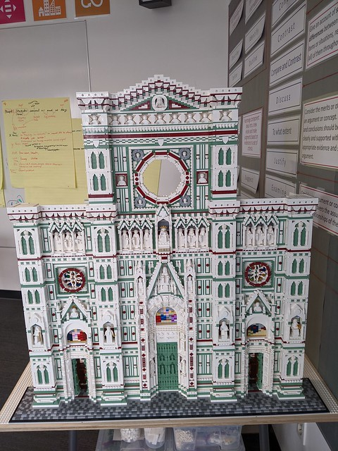 Florence Cathedral...finished the facade...waiting on pieces to finish the inside.