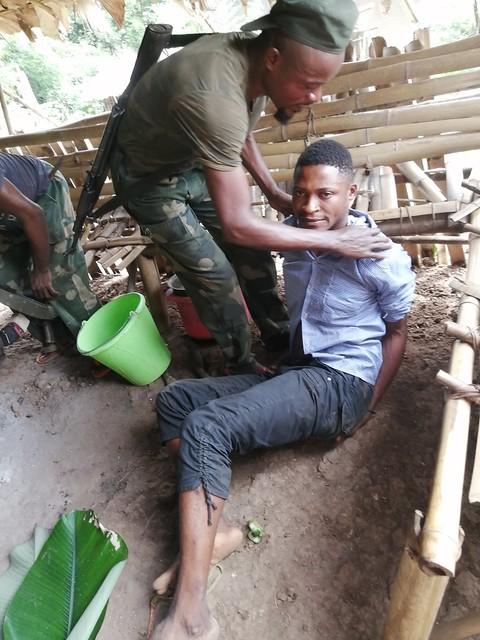 Taye in captivity at Kakongo