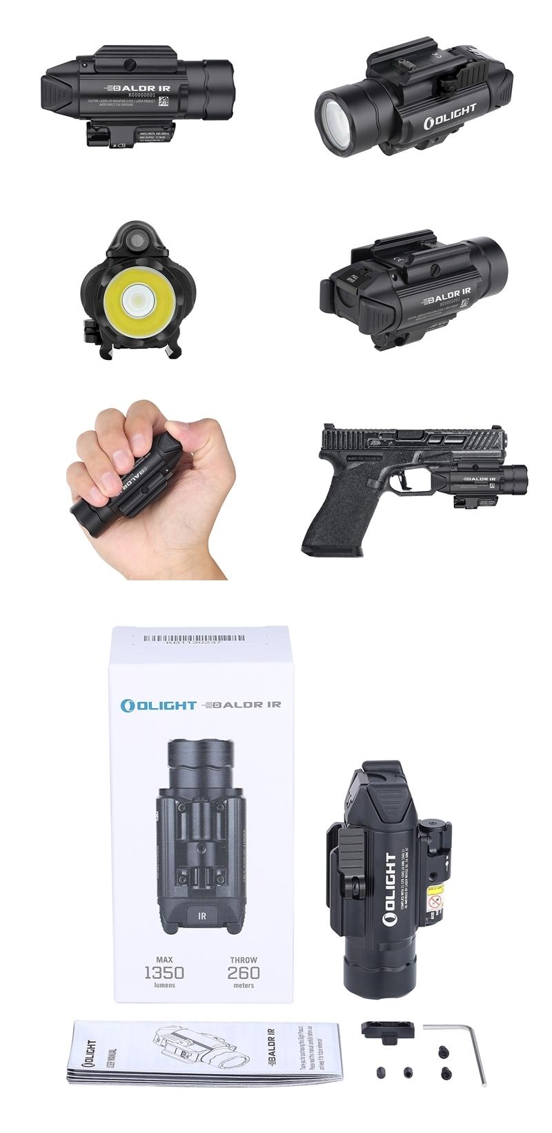 Baldr IR 1350流明 紅外線 瞄準器 白光LED 戰術 槍燈 850nm 0.78mW 紅外線光束 錸特光電 OLIGHT 台灣總代理-16