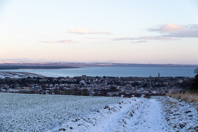 Lightly snow dusted St Andrews