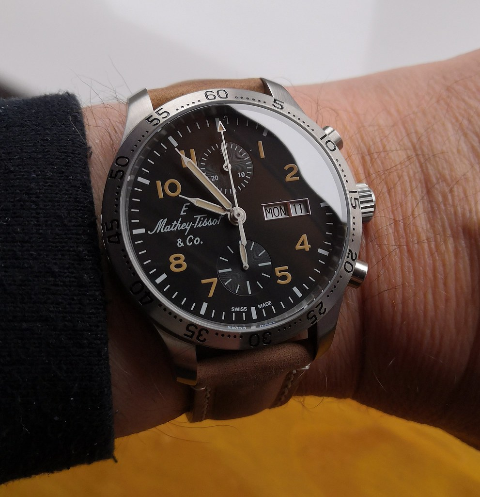 Mathey-Tissot  'Type 21 Flyback Chronograph'  (Cal Valjoux 7750)