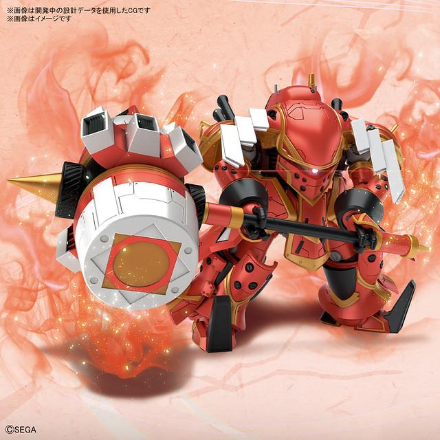 HG 1/24 靈子戰鬥機・無限(東雲初穗機)明年 04 月推出  魄力兵裝「神槌」一同立體化!